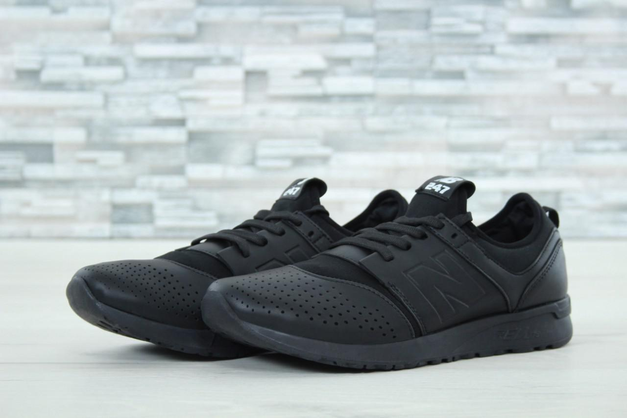 Мужские кроссовки New Balance 247 черные топ реплика