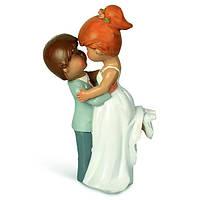 """Забавная фигурка на свадебный торт """"Жених и невеста"""", интересные свадебные статуэтки"""