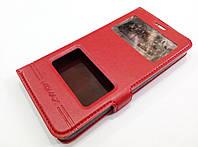 Чехол книжка с окошками momax для Lenovo Vibe C A2020 / a2020a40 красный