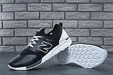 Мужские кроссовки New Balance 247 черно-белые топ реплика, фото 3