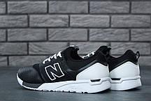 Мужские кроссовки New Balance 247 черно-белые топ реплика, фото 2