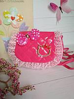 Малиновая сумка для девочки Китти