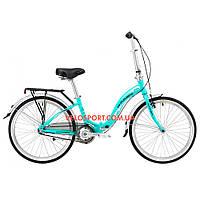 Складной велосипед Winner Ibiza 24 дюймов бирюзовый