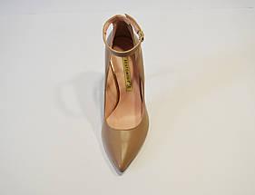 Туфли кожаные на шпильке бежевые Bravo Moda 1633, фото 2