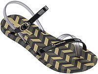 Женские летние босоножки Ipanema Fashion Sandal V Black/Smoke 82291-22155