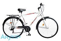 """Велосипед многоскоростной дорожный ХВЗ  Турист 48 ВА SH 28"""" L белый"""
