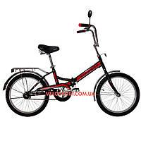 Складной велосипед Салют 2009 черно-красный