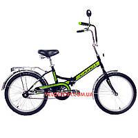 Складной велосипед Салют 2009 черно-зеленый