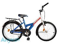 """Велосипед подростковый ХВЗ Junior 57 20"""" бело-синий"""
