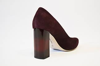 Туфли замшевые цвета слива Bravo Moda 1605, фото 3