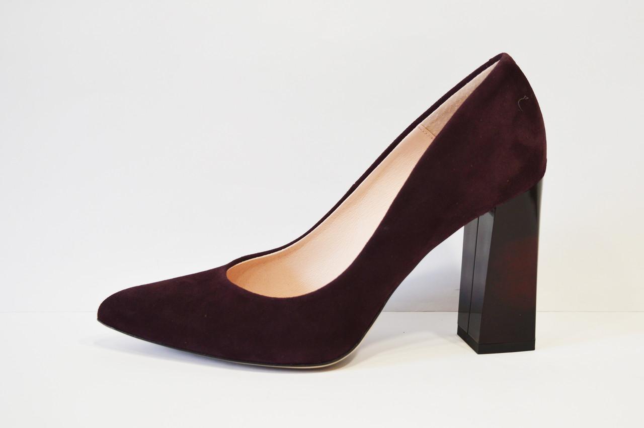 Туфли замшевые цвета слива Bravo Moda 1605