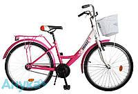 """Велосипед подростковый ХВЗ Savkos 01-2 24"""" бело-розовый"""