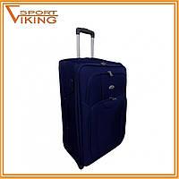 Чемодан сумка RGL средний (67см х 40см х 28см). Темно-синий.