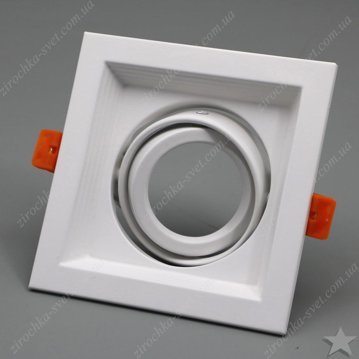 Cветильник карданный поворотный Feron DLT201 белый под лампу MR16