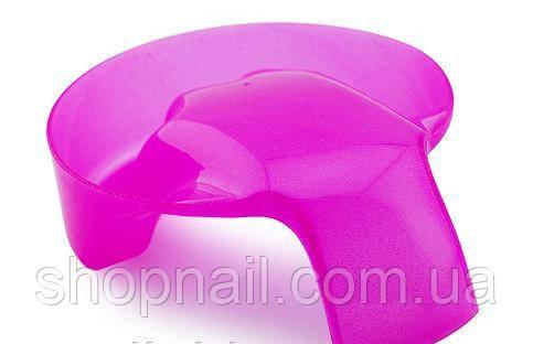 Ванночка для маникюра с ручкой, розовая