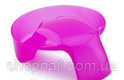 Ванночка для маникюра с ручкой, розовая, фото 2