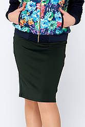 Черная юбка-карандаш больших размеров Вивьен 5XL