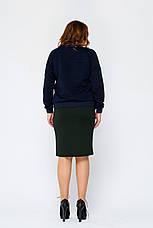 Черная юбка-карандаш больших размеров Вивьен 5XL, фото 3