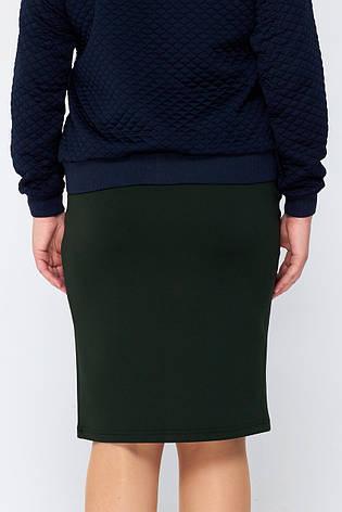 Черная юбка-карандаш больших размеров Вивьен 5XL, фото 2