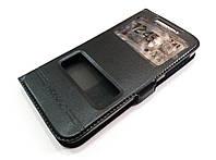 Чехол книжка с окошками momax для Lenovo S820 черный