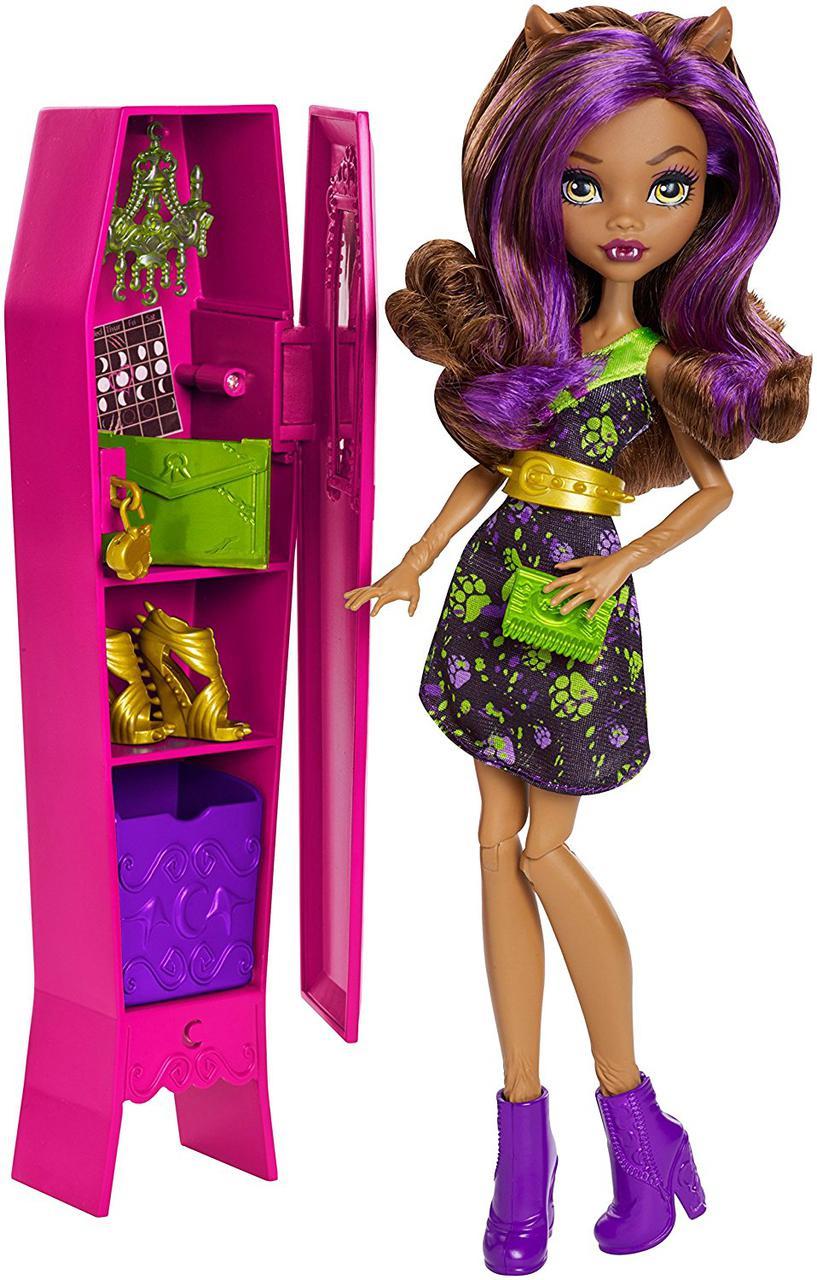 Кукла Монстер Хай Клодин Вульф со шкафчиком Monster High Ghoul-La-La Locker Doll Vehicle Clawdeen Wolf