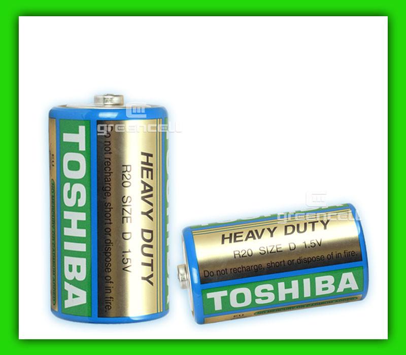 Батарейка Toshiba R20 D 1.5V Heavy Duty