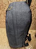 Рюкзак nike/SB Хорошее качество ткань катион матовый с кожаным дном спортивный городской стильный только ОПТ, фото 3