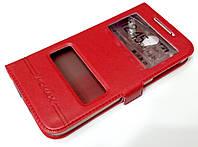 Чехол книжка с окошками momax для Lenovo S820 красный