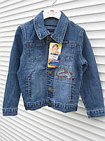 Куртка ждинс для мальчика р 116-122-128-134