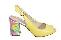Желтые босоножки на каблуке Molka новинка