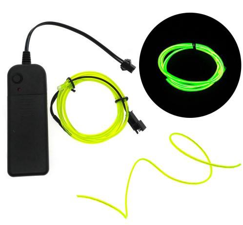 Светодиодная лента провод 3м LED неоновый свет с контроллером