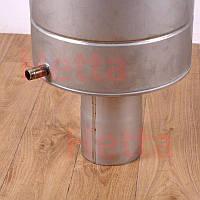 Бак для воды на дымоход в бане 1.0мм AISI 304+AISI 321, 75л
