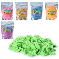 Кинетический песок для творчества Метр+ MK 0468 (6 цветов, 1 кг, 20-29-4 см)