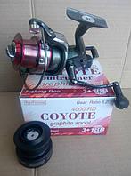 Катушка с байтранером BratFishing Coyote Baitrunner 4000 RD (3+1)