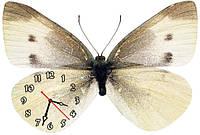 """Красивые фигурные настенные часы """"Бабочка-2"""" 30х45 см"""