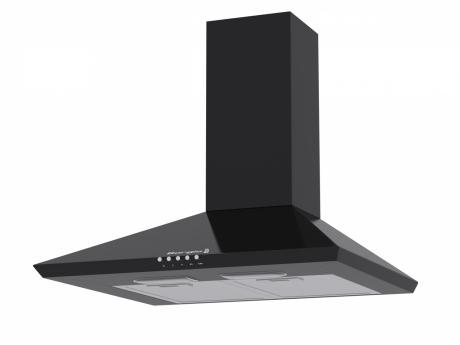 Витяжка кухонна BORGIO Delta + (black) чорна купольна