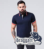 Braggart   Футболка поло хлопок мужская 17093 синий