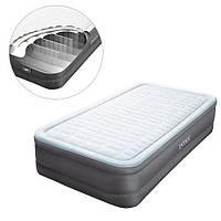 Надувная велюр-кровать Intex 64482 со встроенным насосом