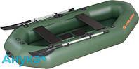 Надувная лодка Kolibri Профи K-270Т слань-коврик  зеленый