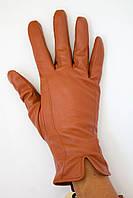 Кожаные перчатки с шерстяной вязкой