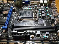 Материнская плата MSI H61M-P20 (G3) (s1155, Intel H61, PCI-Ex16) без коробки