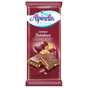 Шoколад молочный Alpinella Bakaliowa арахис с изюмом, 90 г (Польша)