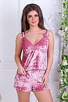Женская бархатная пижама мод. 220