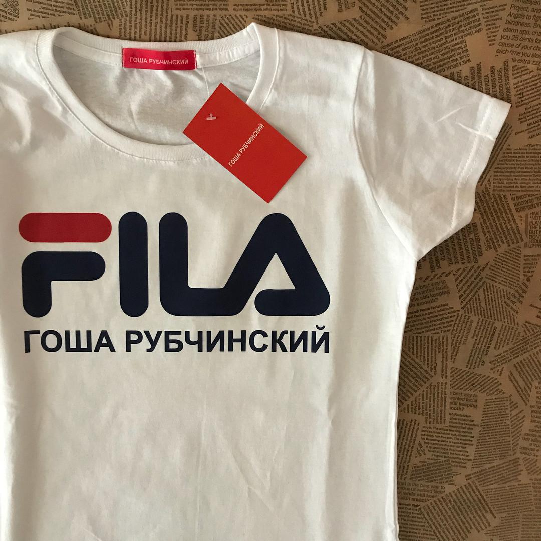 Футболка Гоша Рубчинский FILA Женская | Бирки