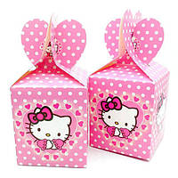 """Коробка детская подарочная картонная в стиле """" Китти """" 18 см. * 8.5 см."""