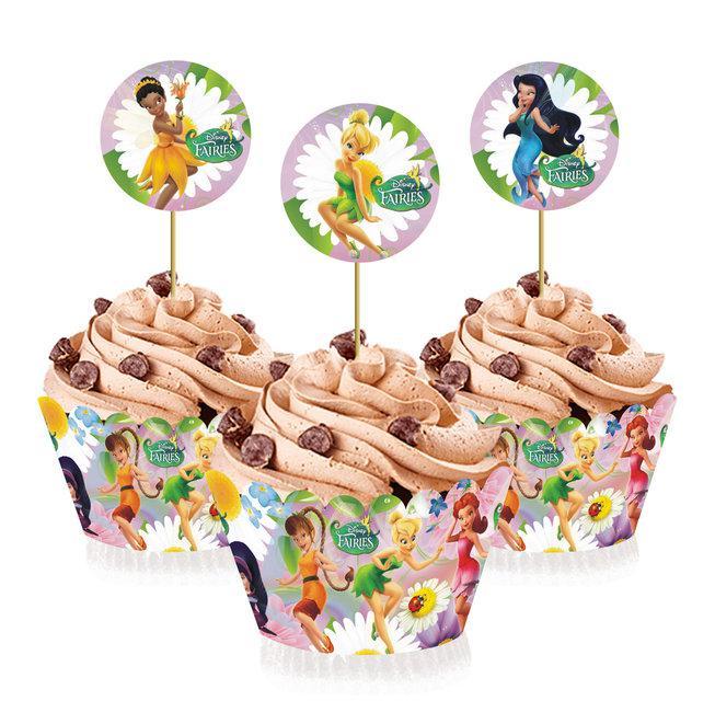 """Топперы для капкейков, десертов и кексов """"Феи Динь Динь"""", 6 шт./уп."""