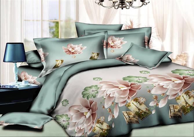 Двуспальный комплект постельного белья евро 200*220 хлопок  (9615) TM KRISPOL Украина, фото 2