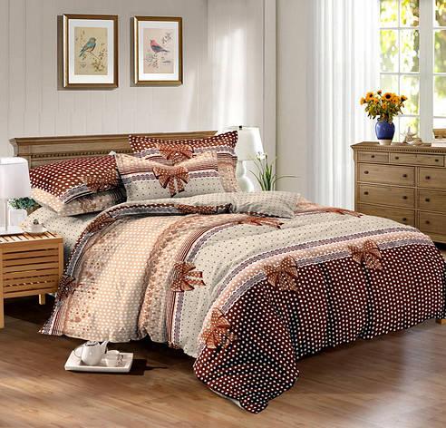Двуспальный комплект постельного белья евро 200*220 сатин (9598) TM КРИСПОЛ Украина, фото 2