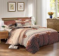 Семейный комплект постельного белья сатин (9605) TM КРИСПОЛ Украина