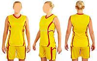 Форма баскетбольная женская Atlanta CO-1101-Y (желтый), Золотистый